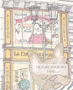 pet portrait Frenchi bulldog shellsherree Paris sweet shop
