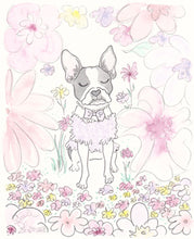 boston terrier art print by shell sherree