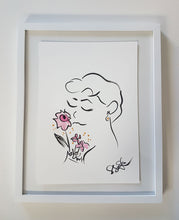 original artwork audrey and roses by shell sherree