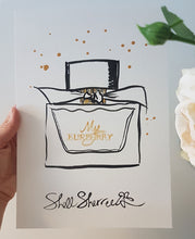 original painting my burberry perfume shell sherree