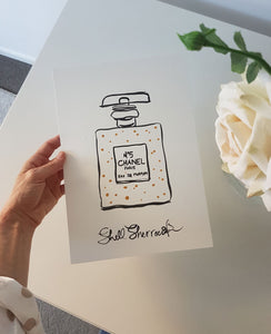 original painting chanel no.5 perfume shell sherree