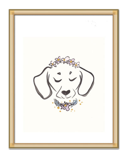 dachshund doxie dog original art by shell sherree