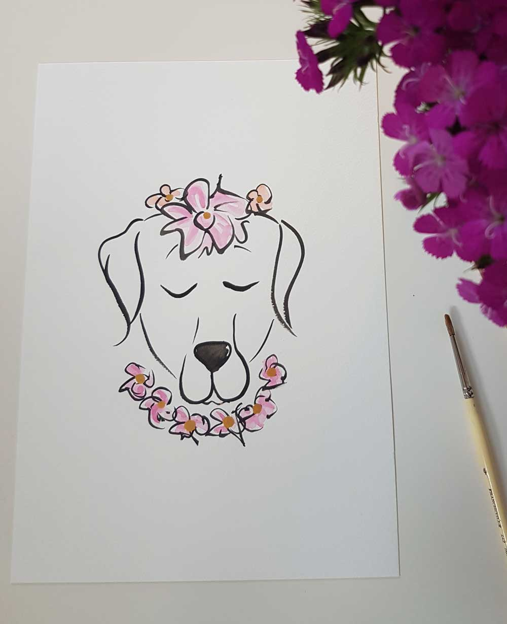 labrador dog original art by shell sherree