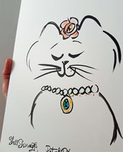 original cat art ophelia cat by shell sherree
