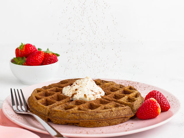 Waffles saludables de chocolate