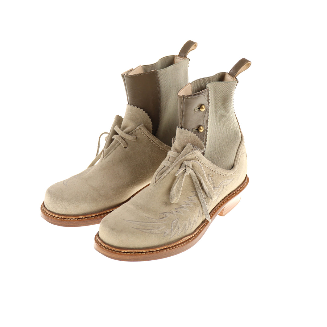 TRIBAL SUEDE BOOTS