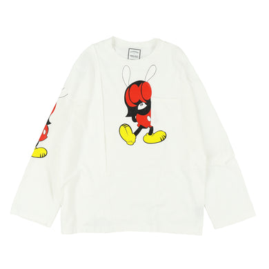 PATCHWORK LS TEE / WHITE