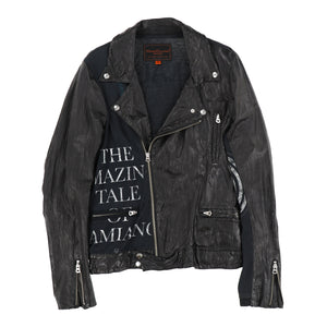 """T"" LEATHER JACKET"