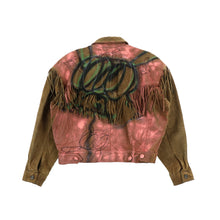 EXCLUSIVE 1 OF 1 PAINTED LEATHER JACKET