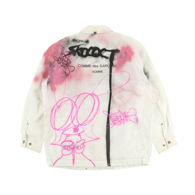EXCLUSIVE 1OF1 PAINTED HOMME LOGO  NYLON JACKET