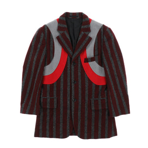 CURVE WOOL STRIPE JACKET