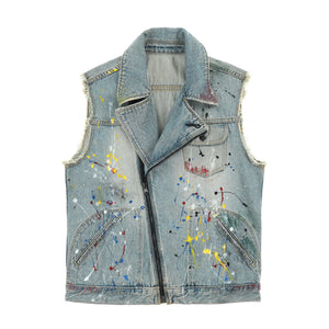 PAINT DENIM VEST