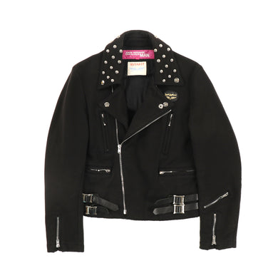 LEWIS LEATHER COTTON RIDERS JACKET