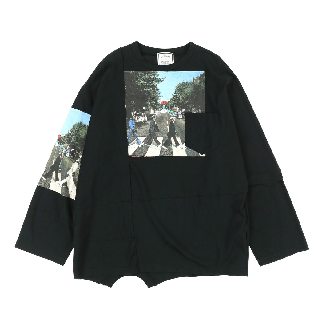 PATCHWORK LS TEE / ABBEY