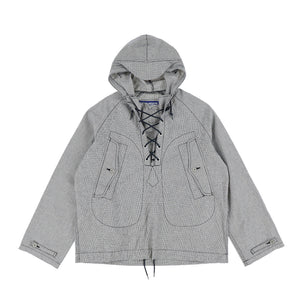 CHECK NYLON PULL OVER JACKET