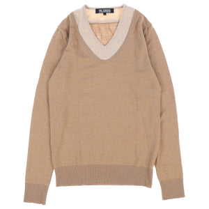 LAYERED V NECK KNIT