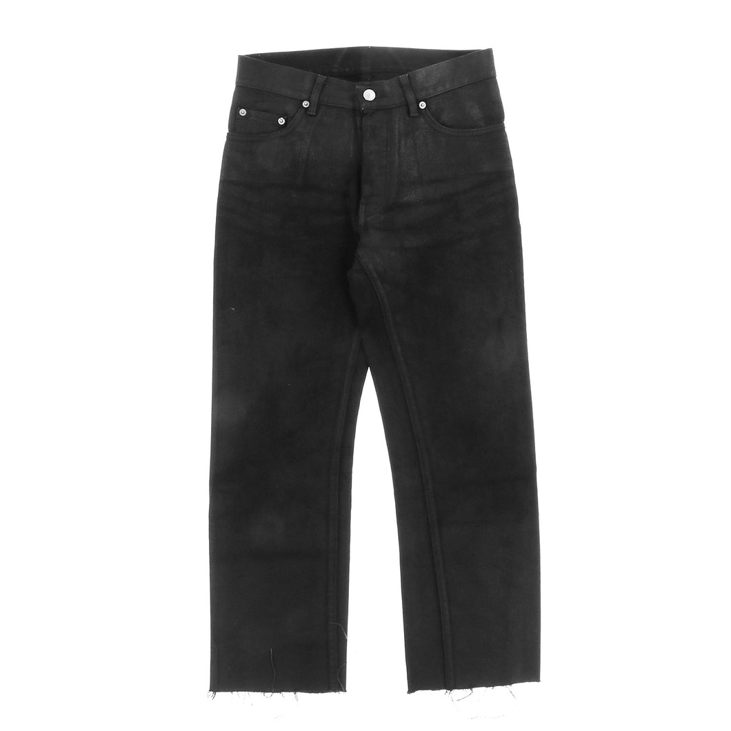 COATED BLACK DENIM