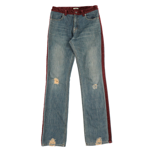 VELOUR LINE DENIM