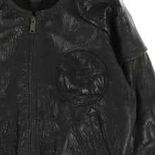 LOGO LEATHER BOMBER JACKET