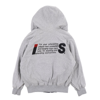 IS CARE LABEL LOGO HOODIE