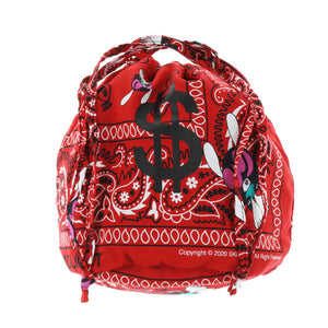 $ BANDANA KINCHAKU BAG / RED
