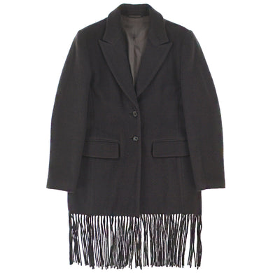 FRINGE WOOL COAT