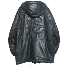 I.S. LEATHER ZIP PARKA