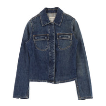 ELASTIC DENIM SLIM JACKET