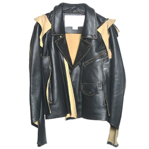 CUT OFF LEATHER JACKET