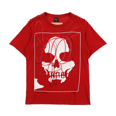 EXCLUSIVE 1OF1 PAINTED SKULL TEE