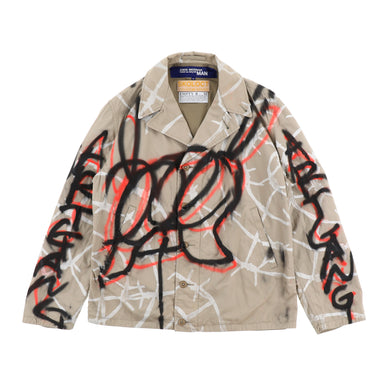 EXCLUSIVE 1OF1 PAINTED BARBED WIRE JACKET