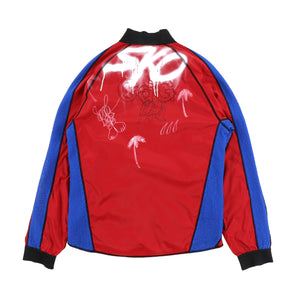 EXCLUSIVE 1OF1 PAINTED LOGO NYLON TRACK JACKET