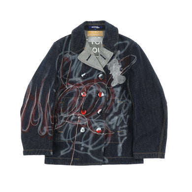 EXCLUSIVE 1OF1 PAINTED POEM DENIM JACKET
