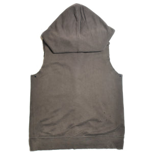 DAMAGED SLEEVELESS HOODIE