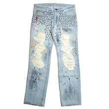 PAINTED STUDS JEANS