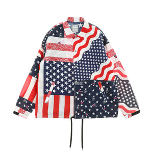BANDANA COACH JACKET  / USA