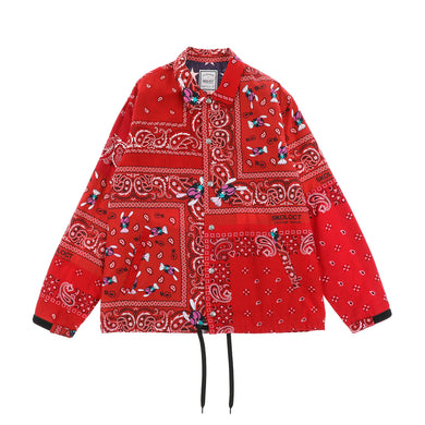 BANDANA COACH JACKET  / RED