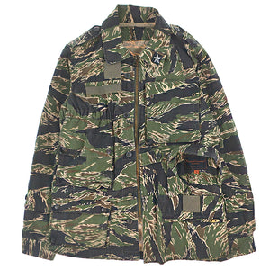 RECONSTRUCTED CAMO ZIP JACKET