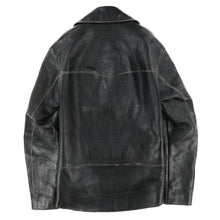 EMBLEM STITCH LEATHER JACKET