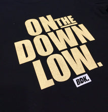 """On The Down Low"" Gold Print Tee - Babahlu Kids Streetwear"