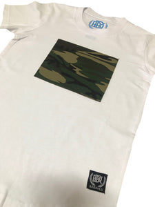 Camo Patch White Tee