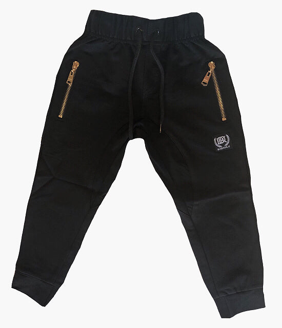 Harlem Drop Crotch Black Pants