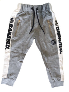 Harlem Drop Crotch Grey Pants