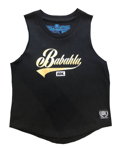 Muscle Tank Gold Babahlu Print