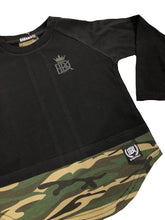 Brooklyn Long Sleeve Tee Black/Camo - Babahlu Kids Streetwear