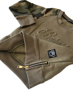 Embossed Camo Crew Jumper