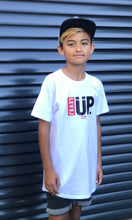 """LEVEL UP"" white tee - Babahlu Kids Streetwear"
