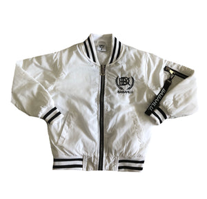 SOHO White Bomber Jacket