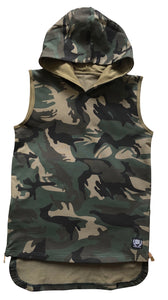 ADULTS Camo Sleeveless Hoodie - Babahlu Kids Streetwear