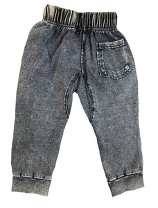 Drop Crotch Stone Wash Pants - Babahlu Kids Streetwear